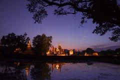 Sukhothai historical park. Buddhist temple ruins in Sukhothai hi Stock Photography