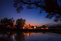 Sukhothai historical park. Buddhist temple ruins in Sukhothai historical park Stock Photo