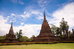 Sukhothai historical park. Buddhist temple ruins in Sukhothai historical park Stock Photography