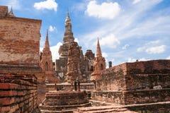 Sukhothai historical park. Buddhist temple ruins in Sukhothai historical park Royalty Free Stock Photos
