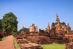 Sukhothai historical park. Buddhist temple ruins in Sukhothai historical park Royalty Free Stock Photo