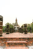 Sukhothai historical park the old town of thailand Stock Image