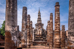 Sukhothai historical park, the old town of Thailand,Mahatat Temple Stock Photos