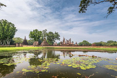 Sukhothai historical park, the old town of Thailand,Mahatat Temple Stock Image