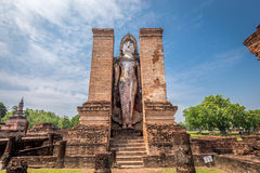 Sukhothai historical park, the old town of Thailand,Mahatat Temple Royalty Free Stock Image