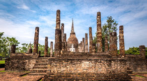Sukhothai historical park, the old town of Thailand,Sa Sri Temple Stock Image