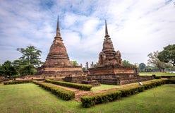 Sukhothai historical park, the old town of Thailand,Sa Sri Temple Stock Photos