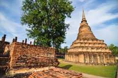 Sukhothai historical park, the old town of Thailand in 800 year Royalty Free Stock Photo