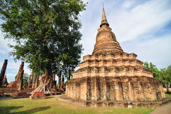 Sukhothai historical park, the old town of Thailand in 800 year Royalty Free Stock Images