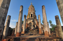 Sukhothai historical park, the old town of Thailand in 800 year Royalty Free Stock Photos