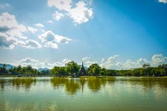 Sukhothai Historical Park. In the past, Sukhothai was Thailand`s capital is thriving. S stock photography