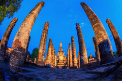 Sukhothai Historical Park Thailand Sunrise Stock Photo
