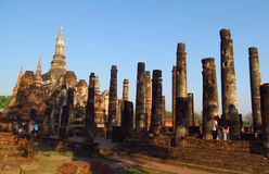 Sukhothai Historical Park in Thailand royalty free stock image