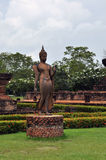Sukhothai history part. Only in sukhothai and thailand can be seen walking buddha image Stock Image