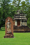 Sukhothai history part. Only in sukhothai and thailand can be seen walking buddha image Royalty Free Stock Photo
