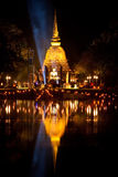 Sukhothai Light and Sound, Thailand Stock Photography