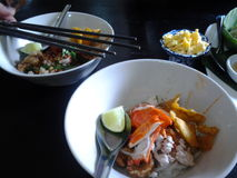 Sukhothai noodle Royalty Free Stock Images