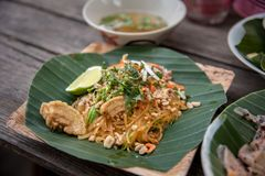 Sukhothai noodle, This noodle are recipe from south of norther r Stock Photography