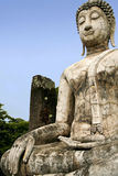 Sukhothai old buddha statue temple ruins thailand Royalty Free Stock Photo
