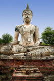 Sukhothai old buddha statue temple ruins thailand Stock Images