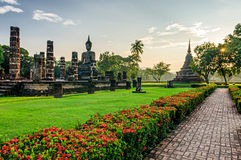 Sukhothai old ruins (Thailand) in Historical Park Royalty Free Stock Photo