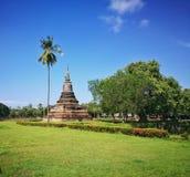 Sukhothai parkerar nationellt historiskt, Sukhothai, Thailand royaltyfria foton
