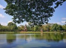 Sukhothai parkerar nationellt historiskt, Sukhothai, Thailand arkivbilder