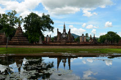 Sukhothai reflections (Thailand). Reflection of Sukhothai Historical Park (Thailand), which was declared a World Heritage Site Stock Image