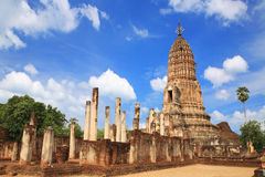 Sukhothai ruin old pagoda Royalty Free Stock Photography