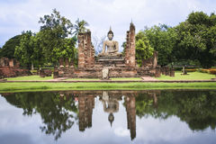 Sukhothai ruins temple buddha statue thailand Royalty Free Stock Images