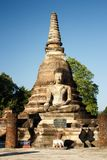 An ancient Siamese Buddha sits in front of Wat Sa Si in Sukothai Historical Park in northern Thailand. Sukhothai is a small city in Lower Northern Thailand, and royalty free stock image
