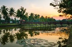 Sukhothai sunset (Thailand) Stock Photo
