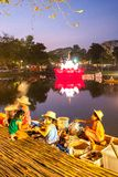 SUKHOTHAI, TAILÂNDIA 21 DE NOVEMBRO O estilo de vida retro da simulação e Fotografia de Stock Royalty Free