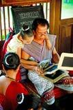 SUKHOTHAI, TAILÂNDIA 10 DE NOVEMBRO O estilo de vida retro da simulação e Imagem de Stock Royalty Free