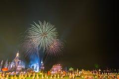 SUKHOTHAI, TAILÂNDIA 16 DE NOVEMBRO: Sho tailandês tradicional da luz e do som Fotos de Stock Royalty Free