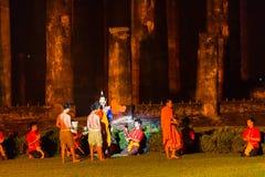 SUKHOTHAI, TAILÂNDIA 16 DE NOVEMBRO: Sho tailandês tradicional da luz e do som Fotos de Stock