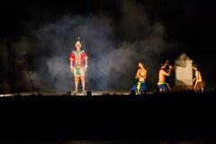 SUKHOTHAI, TAILÂNDIA 16 DE NOVEMBRO: Sho tailandês tradicional da luz e do som Foto de Stock Royalty Free