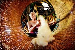 SUKHOTHAI, TAILANDIA 10 NOVEMBRE Lo stile di vita retro di simulazione e Immagini Stock Libere da Diritti