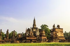 Sukhothai temple from thailand Royalty Free Stock Photo