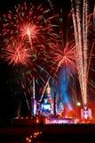 SUKHOTHAI,THAILAND - NOVEMBER 10 : Light and sound show at Loy K Royalty Free Stock Image