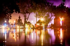 SUKHOTHAI,THAILAND - NOVEMBER 21 : Light and sound show at Loy K Royalty Free Stock Images