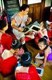 SUKHOTHAI, 10 THAILAND-NOVEMBER Simuleer retro levensstijl en Royalty-vrije Stock Afbeeldingen