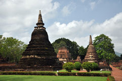 Sukhothai van Wat mahathat Stock Foto's