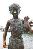 Sukhumi, monument to the boy with chicken Royalty Free Stock Photo