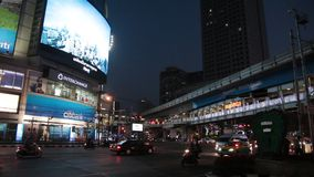Sukhumvit街道在曼谷 股票视频