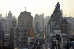 Sukhumvit buildings in Bangkok Royalty Free Stock Images