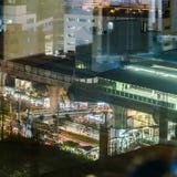 Sukhumvit Road in Bangkok at Night Stock Images