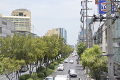 Sukhumvit 42 road Street view in Sukhumvit  Bangkok Thailand Royalty Free Stock Image