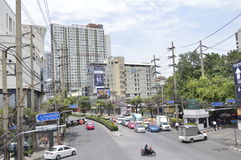 Sukhumvit 42 road Street view in Sukhumvit  Bangkok Thailand Royalty Free Stock Photo