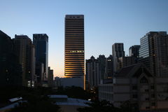 Sukhumvit-Sonnenaufgang, Bangkok Lizenzfreie Stockbilder